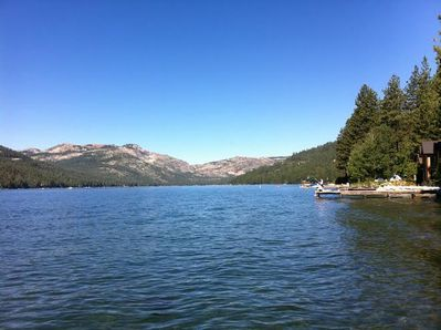 View of Donner Peak from the public docks - one block from the house!