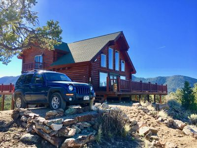 Photo for Secluded Log Chalet / Most affordable near Ski Slopes & all-season adventures!