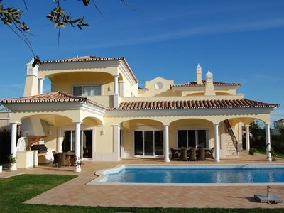 Photo for 5 bed luxury villa, heated pool, cinema room. high end villa on golfcourse