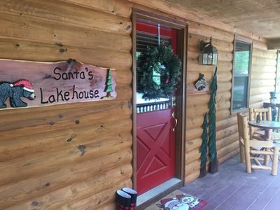 Photo for Santa's Lakehouse--Christmas year round with festive decor and bear friends