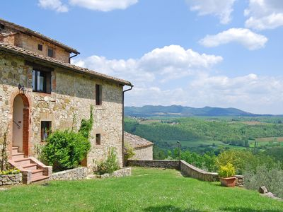 Photo for Villa with private pool on 25 acres in the heart of Chianti, close to Siena