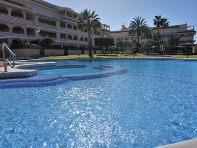 Photo for Apartment 250m from the beach Els Molins with large gardens and pools