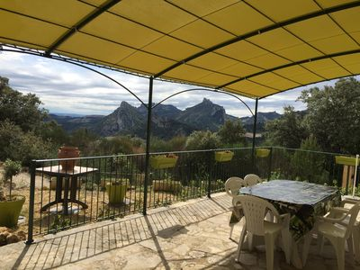 Photo for magical view of the Dentelles and Mont Ventoux with private pool
