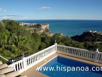 Photo for Villa private pool with air conditioning, WiFi and sea views for rent on the Costa Blanca