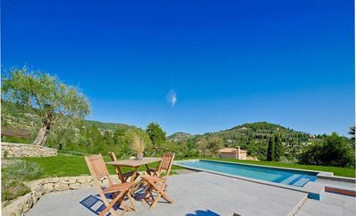 Photo for Villa Arcadia with Splendid Views- Tuscany style, on Hills down to the Sea