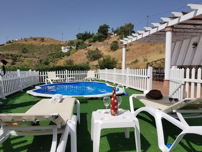 """Photo for Charming Holiday Home """"Casa Rural el Cerrillo"""" with Mountain View, Wi-Fi, Garden, Terrace & Pool; Parking Available, Pets Allowed"""