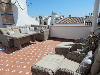 Photo for All day sunshine, Free wi-fi, 4 minute walk to Villamartin Plaza