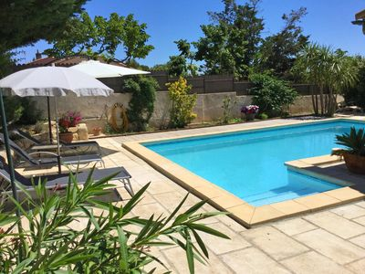 Photo for Nice house with private pool in the heart of the Alpilles in Maussane, 5 prs