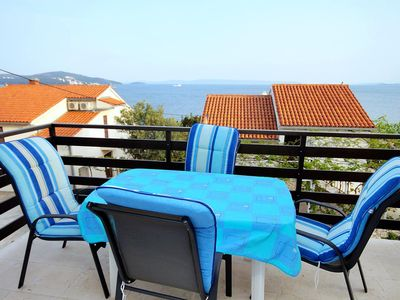 Photo for Two bedroom apartment near beach Seget Vranjica (Trogir) (A-6094-a)