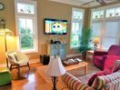 "Living room, curl up with a good book or watch movies/sports on 55"" SMART HDTV"