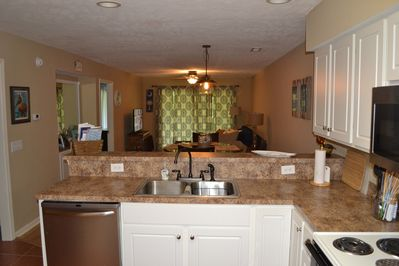 Kitchen to living area