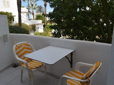 Photo for Beautiful and cheerful apartment in Denia, on the Costa Blanca, Spain  with communal pool for 4 persons