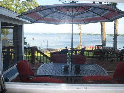 Photo for GRAND PANORAMIC RETREAT, 6 BR, 3 BA, 300' Lakefront, Hot Tub, Dock & Launch! NEW