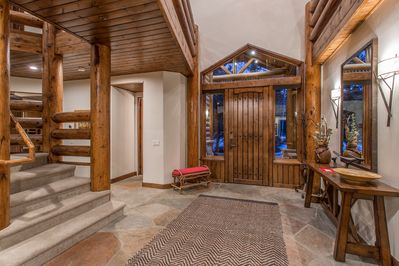 Two story entry hall