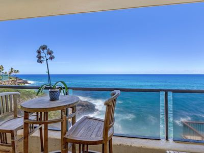 Photo for Poipu Shores B201-Newly remodeled 2br/1.5ba, nice oceanfront view, walk to Brennecke's Beach