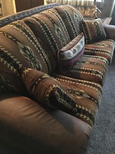 Beautiful new Southwestern couch and chairs
