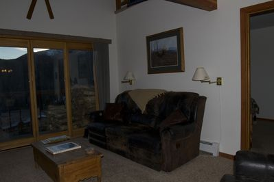 Living Room with four comfy recliners