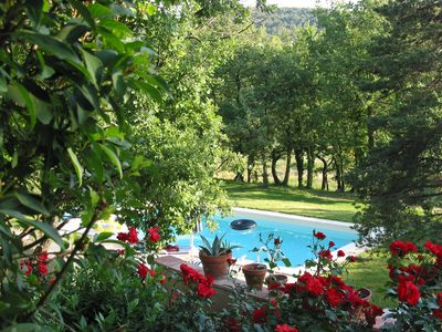 Photo for PROVENCE: Mas amongst oak trees with a pool, in the Luberon.