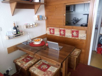 Photo for Studio, 4 people, 2 independent rooms, with covered parking