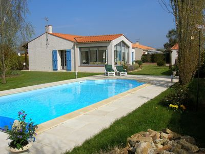 Photo for This Lovely Detached Holiday Home with heated pool, 3 bedrooms, sleeps six