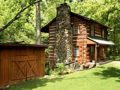 Photo for **On Rushing Stream** Authentic Log Cabin**Great Rates**