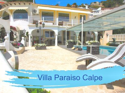 Photo for Villa Paraiso Calpe Top villa with 2 apartments, heated pool