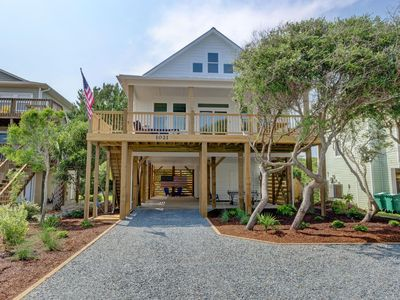 Photo for New Home, Oceanview, Private Yard, Heated Pool, Slide, Best Location on Topsail.