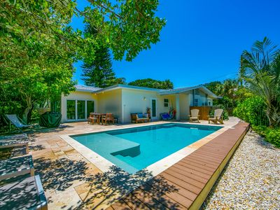 Photo for North End Zen: Modern Canal Front Island Home w/ Heated Pool in Peaceful Setting