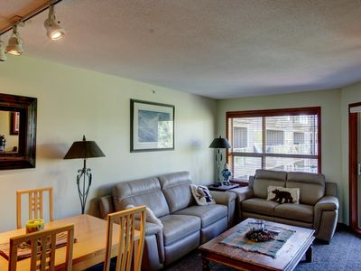 Photo for Prime Ski-in Ski-out Location! Top Floor Unit, Pool, Hot tubs, BBQ (464)