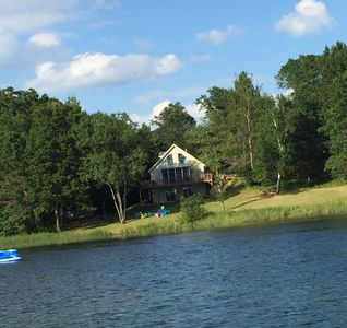 Photo for Pontoon Included!! Gorgeous 4-Season Chalet-style Lake Home, Spooner, WI
