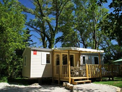 Photo for Camping Les Rives de l'Aygues *** - 4 room mobile home 6 people