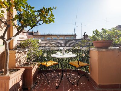 Photo for Lovely flat w/Terrace few steps from Spanish Steps