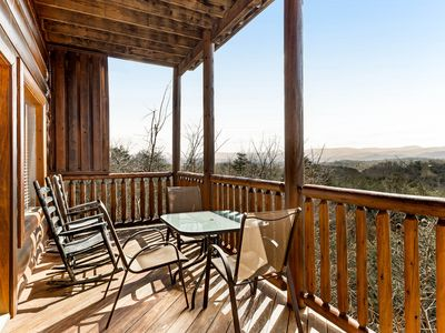 Photo for Log home w/ amazing 180-degree view, private hot tub & shared pool!