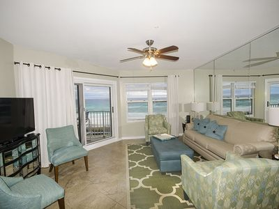 Fabulous view of Beach from Living, Dining area and Kitchen. Also 50' Smart TV.
