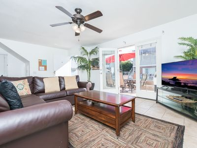 Photo for Downstairs Beachside Getaway w/ A/C - Patio with 34th Street Beach Views!