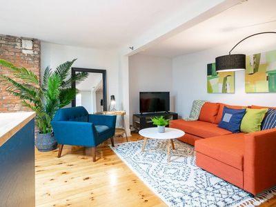 Photo for Colourful Loft with Natural Light & Private Patio