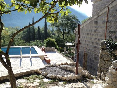 Photo for Villa Mir is a renovated old stone house overlooking the sea, with a pool.