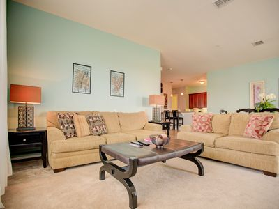 Photo for Top floor luxury condo: 3 bedrooms, 2 bathrooms and view of Lake Cay.