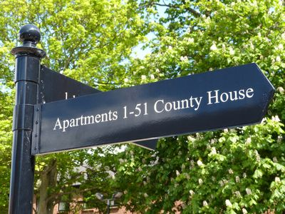 We have apartments no's 45 and 49 in County House. Both on top floor. With Lift.