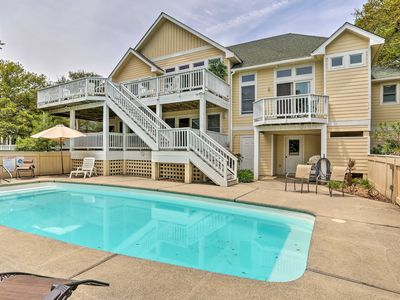 Photo for Pond Front Corolla House w/Private Pool & Spa!