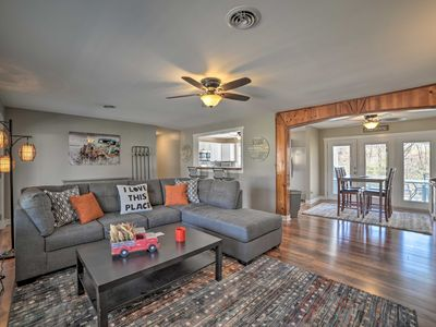 Photo for NEW! Walk to Lake & Town from Grand Rivers Home!