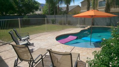 Pool time, fun zone with all the items you need for the Sun