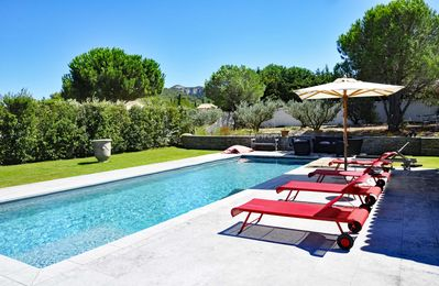 Photo for Saint-Rémy de Provence, The Peirou House, Pool, 4 air-conditioned rooms