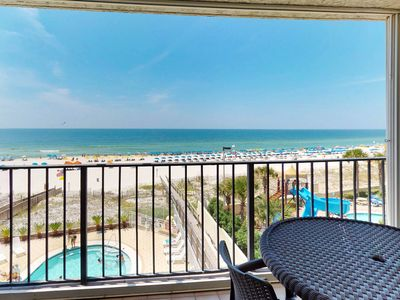 Photo for Direct beachfront condo w/shared pool, private balcony & views