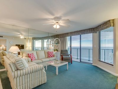 Photo for Spacious 6th floor, oceanfront condo, close to attractions & restaurants