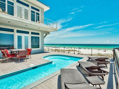 Crystal Palace 7 Bedroom Gulf Front Estate, Private Pool, Destin's Best Beach!