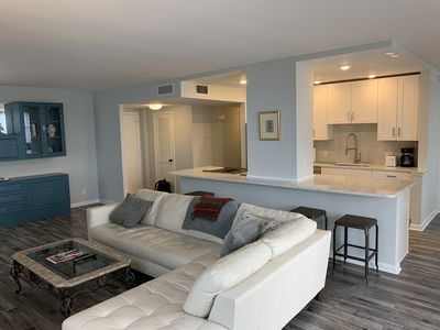 Photo for Beachfront, recently renovated  2 bedroom on St Pete Beach, Sunrise and Sunsets!