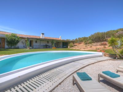 Photo for Villa with private pool in the countryside area with beautiful sea view and A / C