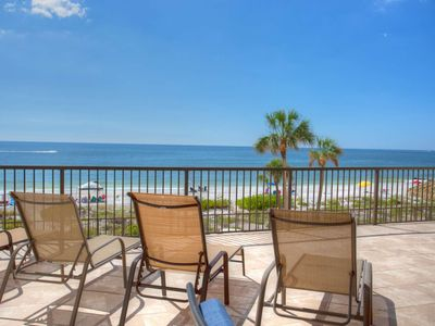 Photo for Steps to Beach! Enormous Private Beachfront Patio, Totally Renovated 3rd Floor Ocean Sands Condo