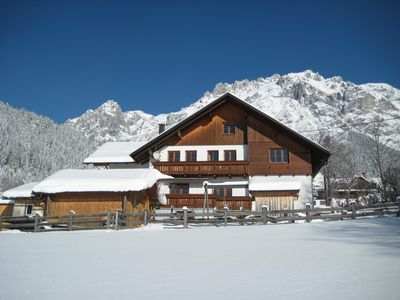 Photo for New apartment with private entrance, quiet sunny location in Ramsau / Dachstein